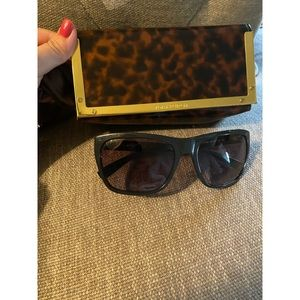 Tory Burch glasses with leopard case